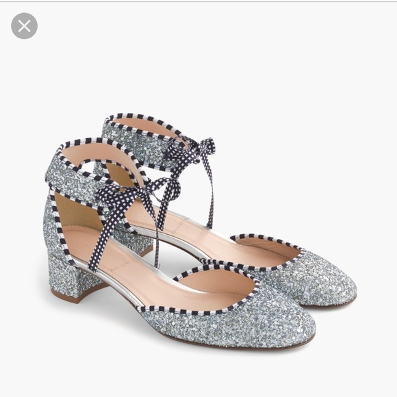 2c19d1d3653d J. Crew collection glitter ankle tie shoes